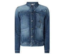 Slim Fit Jeansjacke aus Organic Cotton Modell 'Scutar'