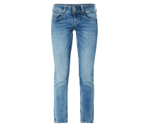 Moon Washed Straight Fit 5-Pocket-Jeans
