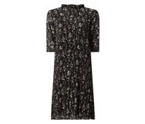 Kleid mit Plisseefalten Modell 'Blossoms'