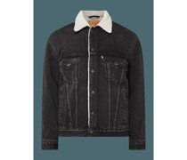 Vintage Fit Sherpa Trucker Jacket mit Teddyfell
