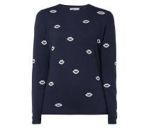 Pullover mit eingestricktem Muster