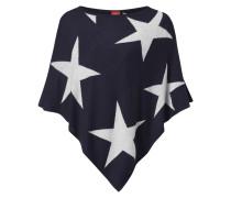 Poncho mit eingestricktem Sternenmuster
