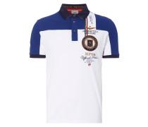 Poloshirt in zweifarbigem Design