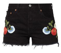 Coloured 5-Pocket-Jeansshorts mit Stickereien