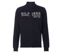 Sweatjacke mit Logo-Stickerei