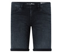 Regular Fit Jeansshorts mit Stretch-Anteil
