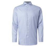 Regular Fit Business-Hemd mit Webmuster