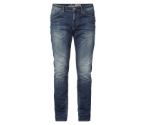 Stone Washed Regular Slim Fit Jeans