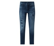 Jeans mit verkürztem Bein und Stretch-Anteil Modell 'Dream Chic'