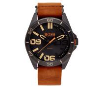 Uhr mit Armband aus Veloursleder
