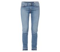 Stone Washed Slim Boyfriend Fit 5-Pocket-Jeans