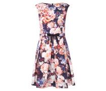 Kleid mit floralem Muster und Kellerfalten