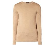 Pullover aus reiner Wolle - leicht meliert