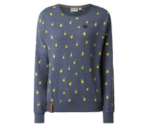 Sweatshirt 'CAN T BUY LIFE' mit Allover-Muster
