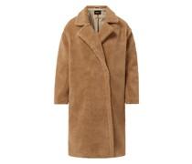 Mantel aus Teddyfell Modell 'Evelin'