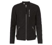 Biker-Jacke mit Reißverschlusstaschen