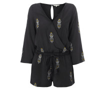 Playsuit mit floralen Stickereien
