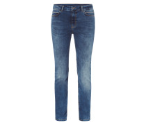 Stone Washed Skinny Fit Jeans mit Kettendetails