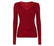 Pullover mit Rückseite in Kontrastfarbe