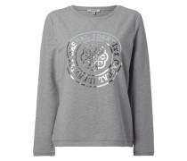 Sweatshirt mit Logo-Print in Metallicoptik
