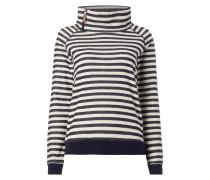 Sweatshirt mit Tube Collar - gestreift
