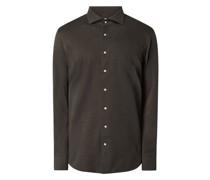 Regular Fit Business-Hemd aus Jersey Modell 'Cutaway'