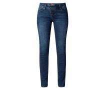 Slim Fit Jeans mit Stretch-Anteil Modell 'Malibu'