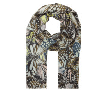 Schal mit Schmetterlings-Print