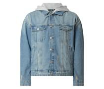 Jeansjacke mit abnehmbarer Kapuze