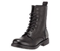 Lederboots im Military-Look