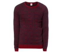 Pullover mit eingestricktem Rautenmuster