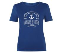 T-Shirt mit Print im Marine-Look