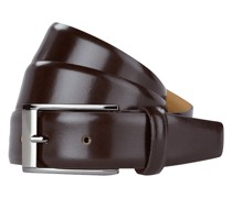 Ledergürtel mit Dornschließe in Chrom-Optik