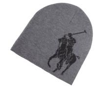 Strickmütze mit eingewebtem Logo
