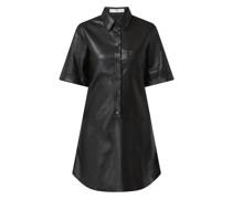 Kleid in Leder-Optik Modell 'Paola'