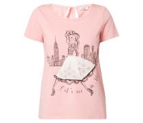 Shirt mit Print und Ziersteinbesatz
