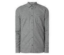 Slim Fit Flanellhemd aus Baumwolle Modell 'Harrison'