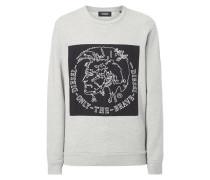 Sweatshirt mit Aufnäher und Logo-Stickerei
