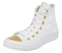 Sneaker 'All Star High' mit Ösen in Goldoptik