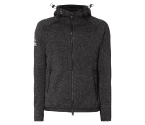 Sweatjacke in Strickoptik