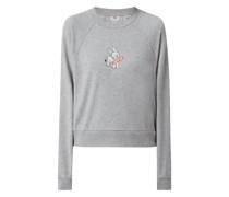 Cropped Sweatshirt mit Logo-Print