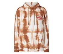Hoodie im Batik-Look