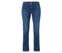 Stone Washed 5-Pocket-Jeans mit Stretch-Anteil