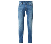 Tapered Fit Jeans mit Stretch-Anteil Modell 'Lyon' - 'Futureflex'