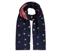 Schal mit Sternen- und Blumenmuster