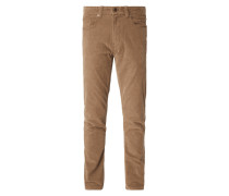 Regular Fit Cordhose im 5-Pocket-Design