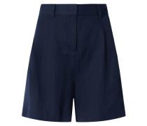 Shorts aus Lyocell-Leinen-Mix