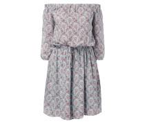 Off Shoulder Kleid mit ornamentalem Muster
