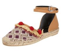Sandalen im Ethno-Look mit Lederdetails