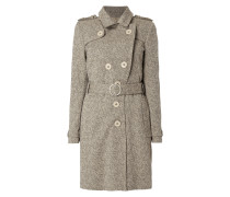 Trenchcoat in Melangeoptik